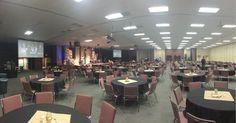 The calm before the comedy! Date Night Calvary Church in Naperville, IL!