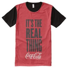 Coca-Cola | It's The Real Thing All-Over-Print T-Shirt - click/tap to personalize and buy