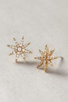 Elizabeth and James Compass Rose Studs Gold One Size Jewelry on shopstyle.com