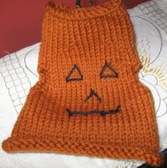 Handmade Puppy Dog / Kitty Cat Clothing - Knit Pet Pullover Sweater Vest - Choose one: Pumpkin Pie OR Nutmeg by greatlakestate2 on Etsy