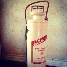 Antique Ace Hardware Yard & Garden Sprayer Ace Hardware, Fire Extinguisher, Water Bottle, Yard, Antiques, Antiquities, Patio, Antique