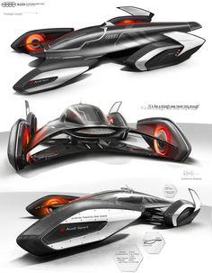 Audi Streamliner (Prototype livery). #Audi #Concept #Art #Racecarcomplete work on https://www.behance.net/guilhermek67b4