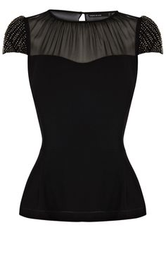 Bead sleeve top - Karen Millen