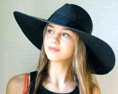 Women's Fedora Style Hats | ... Brimmed Fedora Hat- Women- Spring Fashion- Spring Accessories- Sun Hat
