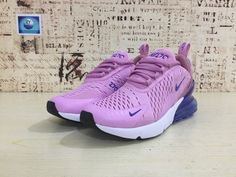 brand new 9f2f1 a58f9 Cheap Priced Nike Air Max 270 Running Shoes Flyknit Pink Bule 2018 Latest  Styles On Sale