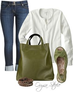 """Khaki Comfort"" by orysa ❤ liked on Polyvore"