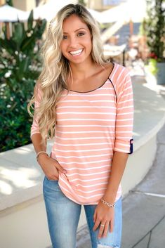 5e0b45894c102  Coral Crush 3 4 Sleeved Top- Simply Me Boutique – Simply Me Boutique