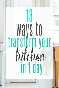 Transform Your Kitchen In One Day with these super simple kitchen design and decor hacks - perfect for a speedy kitchen makeover Simple Kitchen Design, Stylish Kitchen, Moving House, Ways To Save, Home Renovation, Interior Design Living Room, Decorating Tips, Cleaning Hacks, Kitchen Remodel
