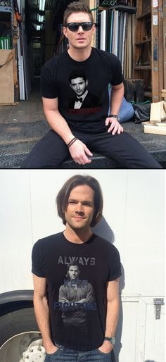 J2 and their self-designed T- shirts :)