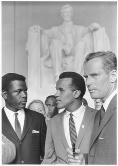 Actors Sidney Poitier, Harry Belafonte and Charlton Heston at the Lincoln Memorial.  In August 1963, photographer Rowland Scherman was given an assignment by the U.S. Information Agency (USIA) to cover a civil-rights march in Washington, D.C. – which turned out to be one of the most important events in American history.  The images he captured of the March on Washington are now part of the collections of the National Archives.   For the fiftieth anniversary of the march, the National…