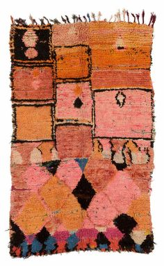 Carpet, third century, 200 x 127 cm, Boujad (market town), Middle… Textiles, Textile Patterns, Textile Art, Color Patterns, Quilt Modernen, Patterned Carpet, Living Room Carpet, Rug Hooking, Rugs On Carpet