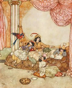 The Sleeping Beauty and Other Fairy Tales From the Old French, Edmund Dulac, 1910,