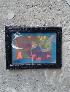 """Artist: Mus Bazza """"Listen up!"""" Mixed Media (Frame: made out of used tires) Vienna, 2013 Used Tires, My World, Vienna, Making Out, Mixed Media, My Arts, Frame, Artist, Picture Frame"""