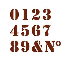 Set numbers stencil. French stencil for many par Passesimple