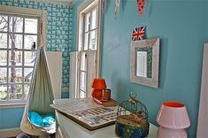 Pink, red, and aqua room; Teen Girl Rooms, Girls Bedroom, Kids Rooms, Aqua Blue, Nursery Paint Colors, Room Colors, Elephant Themed Nursery, Blue Rooms, Red Design