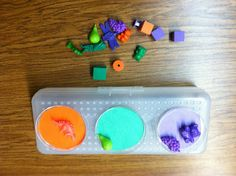 Color sorting task box. Repinned by Autism Classroom. Follow us at http://www.pinterest.com/autismclassroom #specialeducation #tasks #TEACCH #ideas #Classroom #asd #specialneeds and #autism