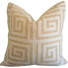 Greek Key Pillow - Greek Key Sham - Geometric Pillow - Couch Cushion - Greek Key…