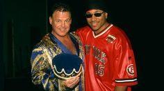 Take a look behind the curtain at this exclusive gallery featuring backstage photos from SmackDown's history! Ll Cool J, Backstage, Wwe, Christmas Sweaters, Take That, Culture, Photos, Jackets, Black
