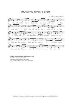 Waldorf School Songs Music Lesson Plans, Music Lessons, School Songs, School Stuff, Singing Time, Music Score, Elementary Music, Telling Time, Music Therapy