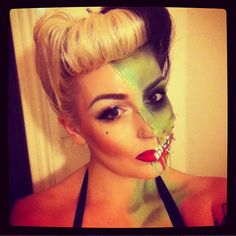 halloween pin up zombie. such a cute idea!! #Halloween #HalloweenMakeup