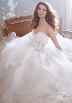 Jim Hjelm 8301 ball gown style wedding dress, The Knot