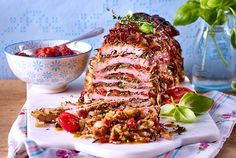 Schnitzel-layer roast recipe DELICIOUS - Our popular recipe for layered schnitzel and more than other free recipes LECKER. Food N, Good Food, Yummy Food, Tasty, Roast Recipes, Cooking Recipes, Pork Roulade, Heath Food, Zucchini Lasagne
