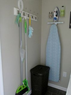 Grace Lee Cottage: Laundry Room And Cleaning Storage Progress. Hang Broom  ...