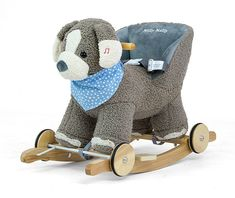 The animated plush rocking horse. For children up to 30 kg. Plush Rocking Horse, Grey Dog, Rockers, New Product, Baby Shop, Teddy Bear, Animation, Horses, This Or That Questions