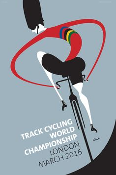 The UCI World Championship Track Cycling will take place in London, March 2016. Sure to be a highlight of the track cycling season as always.  As a commemorative poster to mark the event Michael created this Track Cycling, Bearskin wearing whimsical character as tribute. Sporting the Colors of the UCI World Champion our ever vigilant rider watches over his shoulder keeping an eye on the competition.  Artist: Michael Valenti