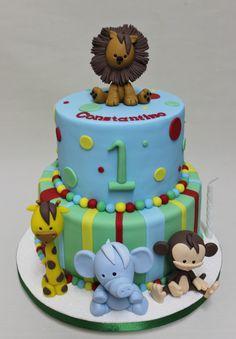 Jungle for Boy Cake