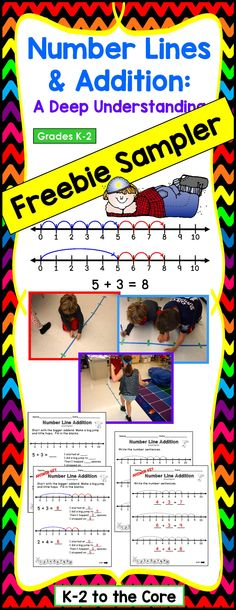 This is a FREE SAMPLER  of my full product: Number Lines and Addition