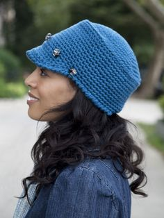 Buy Yarn Online and Find Crochet and Knitting Supplies and Patterns Bonnet Crochet, Crochet Beanie Hat, Knit Crochet, Crocheted Hats, Knit Hats, Knitting Patterns Free, Free Pattern, Crochet Patterns, Hat Patterns
