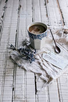 lavanda lavander lavender lavendel  Puro Organic, Fair Trade Coffee by Beth Kirby | {local milk}, via Flickr