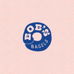 Minimal Logo Design, Graphic Design Trends, Graphic Design Tutorials, Graphic Design Branding, Identity Design, Graphic Design Inspiration, Logo Sticker, Sticker Design, Bagel Brands