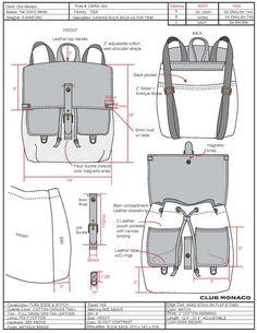 Pin by Andita Yuliana on Bags and rucksack Diy Leather Rucksack, Backpack Tutorial, Drawing Bag, Diy Tote Bag, Leather Pattern, Leather Backpack Pattern, Denim Bag, Fabric Bags, Knitted Bags
