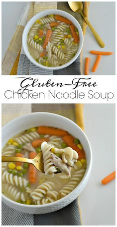 This Gluten-Free Chicken Noodle Soup Is The Best Recipe Around. It Is Homemade And Oh So Delicious Gluten-Free Soup Recipes Easy Gluten-Free Soup Recipes Homemade Soup Recipes Healthy Chicken Noodle Soup Easy Chicken Noodle Soup This Vivacious Life Best Soup Recipes, Healthy Chicken Recipes, Easy Healthy Recipes, Free Recipes, Healthy Food, Healthy Soups, Noodle Recipes, Eating Healthy, Healthy Living