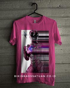 Kaos Pink Power Ranger - Bikin Kaos Satuan