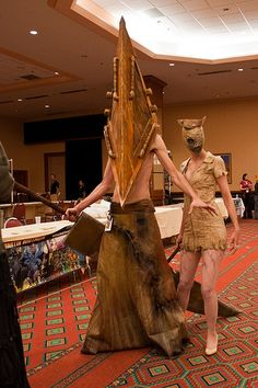 Cosplay of the Day: Pyramid Head and nurse from Silent Hill