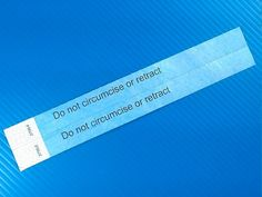 Free do not circumcise do not retract bands for hospital birth