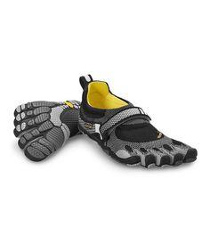 Take a look at this Gray  amp  Black Bikila Shoe - Women by Vibram  FiveFingers 8c1da19c1b6