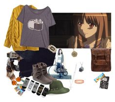 """""""Rucksack"""" by amanda-anda-panda ❤ liked on Polyvore featuring Design Letters, Chan Luu, TravelSmith, Lord & Taylor, Sydney Evan, Ariat, True Religion, WithChic, Pusheen and Hotter"""