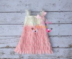 Light pink and ivory dress newborn dress by MyLilSweetieBoutique, $23.95
