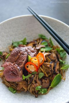 Rare Beef with Green Tea Soba