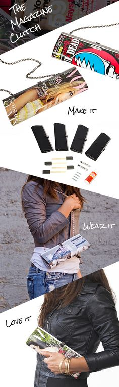 "DIY ""make a clutch bag"" kit from #Darbysmart How much fun would this be???"
