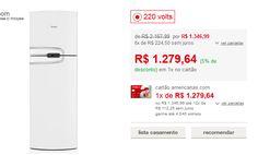 Refrigerador Consul Duplex 2 Portas Frost Free CRM43HB 386 Litros - Branco - Somente 220V << R$ 127964 >>