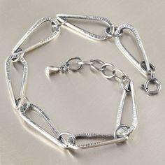 Metal smithing statement bracelet
