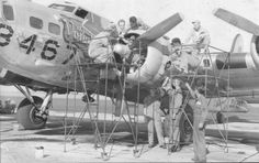 B-17 with Groundcrew