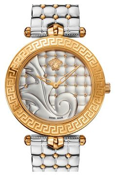 Versace 'Vanitas' Quilted Bracelet Watch, 40mm (Regular Retail Price: $1,995.00) available at #Nordstrom
