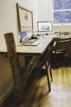 Rustic Desk. Reclaimed wood project.
