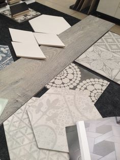 Make a Statement with Tiles – Local Geelong Project Mood Board Interior, Interior Design Boards, Home Design Decor, House Design, Home Decor, 5x7 Bathroom Layout, House Tiles, Tile Design, Bad